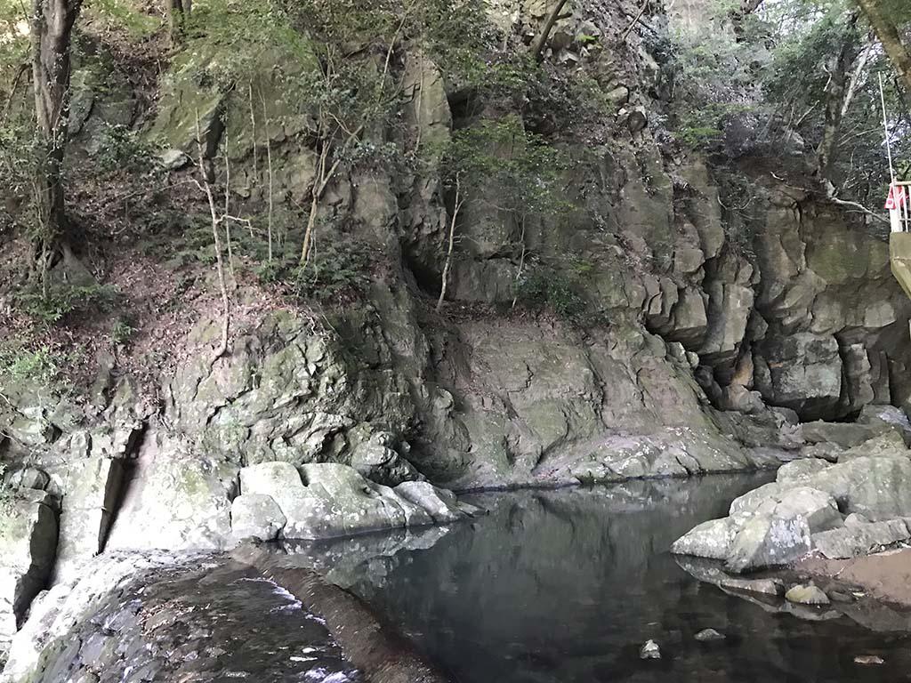 鮎屋の滝で川遊び3