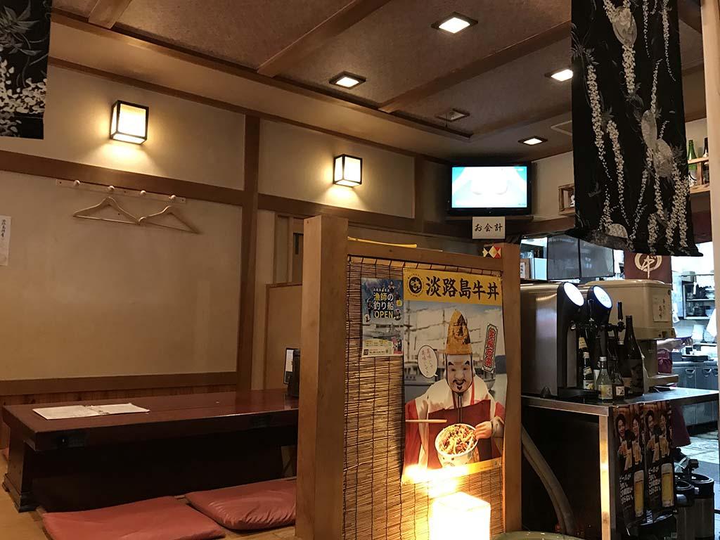 石挽そば丸中(まるなか)淡路島 店内2