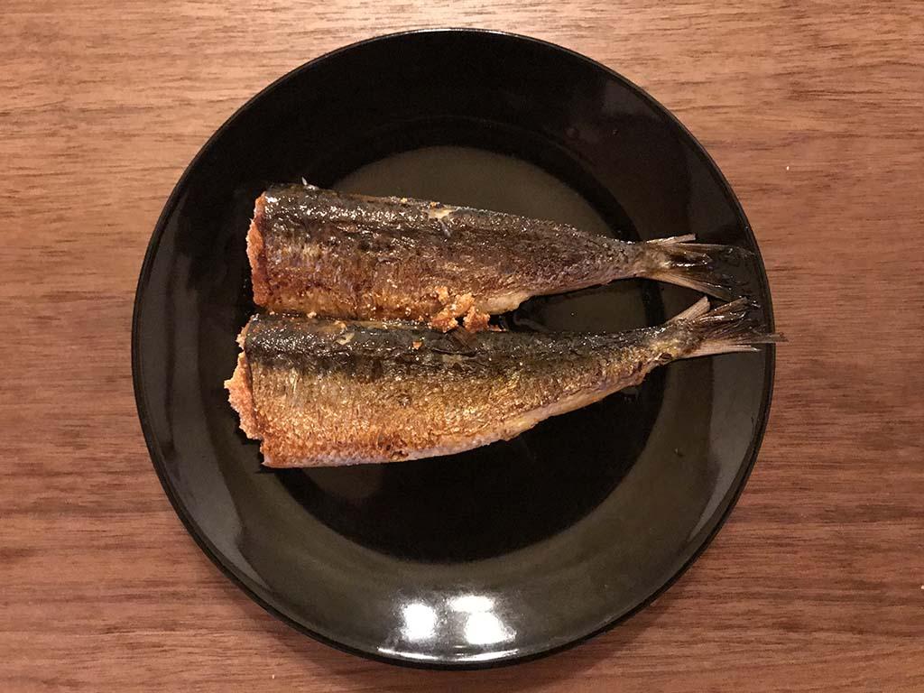 平塚明太子専門店 門司港店の いわし明太子 焼き上がり1